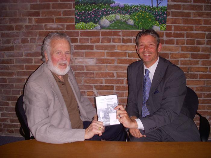 George Colburn receiving grant